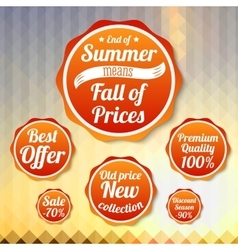 Set of sale business banners for summer autumn vector image