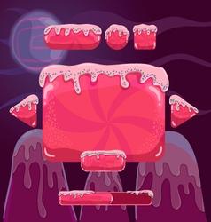 Sweet cartoon user interface games game design vector