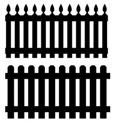 Two black fences vector