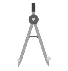 measuring compass icon vector image