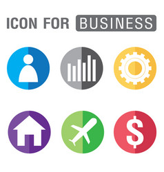 icon for business set isolated on white background vector image