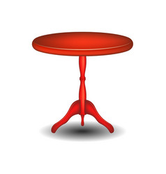 wooden round table in red design vector image