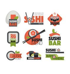 Sushi bar or japanese restaurant chopsticks vector