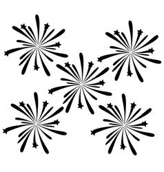 black fireworks vector image