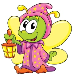 Firefly in pajamas on white background vector