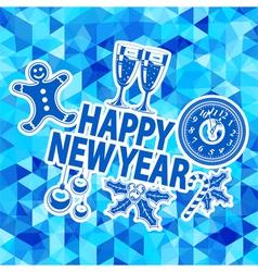 New Year Mosaic Pattern vector image