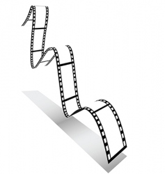 3d filmstrip vector image vector image