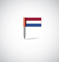 Netherlands flag pin vector