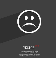 Sad face sadness depression icon symbol flat vector