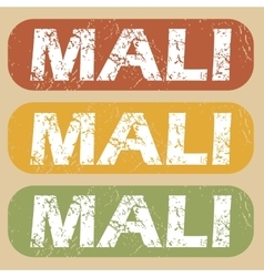 Vintage mali stamp set vector