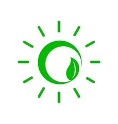 Green plant icon simple style vector