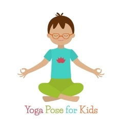 Kid yoga pose vector