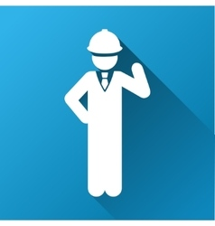 Engineer gradient square icon vector