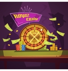 Casino retro cartoon vector