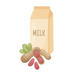 Peanut milk vector