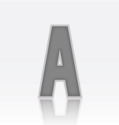 Alphabet A vector image vector image