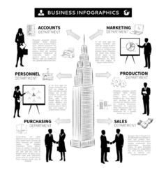 Business people infographics vector