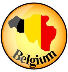 Button belgium vector
