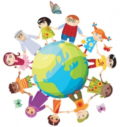 Children of the world vector