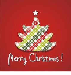 Christmas tree silhouette postcard vector