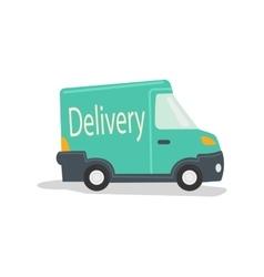 Delivery car cartoon vector image