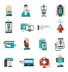Digital medicine icons vector