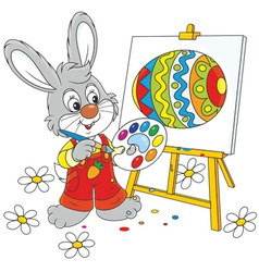 Easter Bunny painter vector image vector image