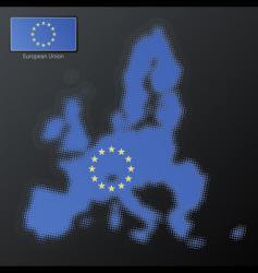 European union halftone vector image vector image