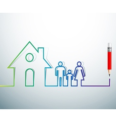 home family vector image