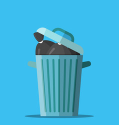 huge waste trash can vector image vector image
