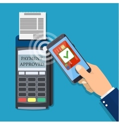 Payments using terminal and smartphone vector
