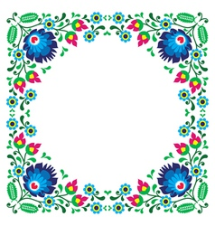 Polish floral folk embroidery frame pattern vector image vector image