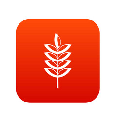 Rye spica icon digital red vector