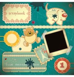 scrapbook vintage vector image