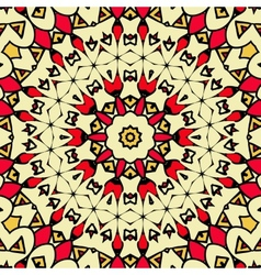 Seamless geometric pattern with abstract ethnic vector image