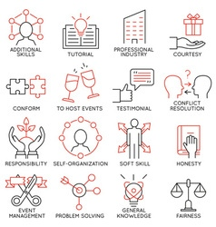 Set of icons related to business management -28 vector