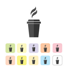 silhouette of coffee and tea cup isolated vector image