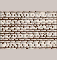 texture of ivory old brick wall vector image