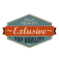Top quality blue vintage banner vector