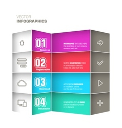 Trendy design infographic vector image vector image