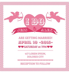 Wedding Angel Invitation Card vector image vector image
