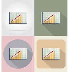 Business and finance flat icons 10 vector