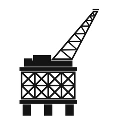 Oil platform icon simple style vector