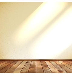 Empty beige wall and wooden floor room eps 10 vector
