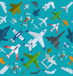 Aircraft plains top view vector