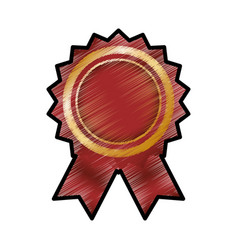 Award ribbon blank vector