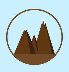 Mountain icon or logotype vector