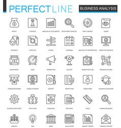 Business analytics thin line web icons set vector