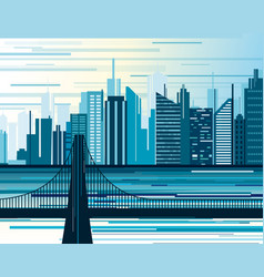urban city landscape big vector image