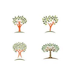 Family tree logo design template vector